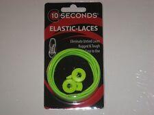 """Ten Seconds Elastic Stretch Shoelaces Shoe Laces Lock Lace Yellow 36"""" Unisex"""