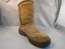 Ugg Australia Brown Suede Sheepskin Ultimate Short Boots 5275 Women's Sz 5