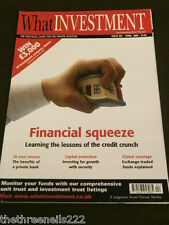 WHAT INVESTMENT #301 - FINANCIAL CRISIS - APRIL 2008