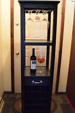 Black wood wine cabinet wood