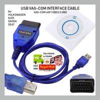 UK USB Cable KKL VAG-COM 409.1 OBD2 II OBD Diagnostic Scanner VCDS VW/Audi/Seat