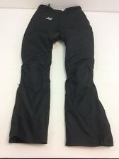 E124 WOMENS J&S BLACK BIKER MOTORBIKE TROUSERS UK 12