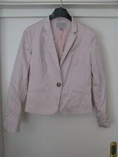 H&M Damen Blazer Gr. 40 hellrosa pink 1-Knopfleiste Jacke