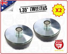 "2x Titanium Compression 1.35"" Screw-On Horn Driver Tweeter 13cm Diameter Gold"