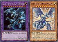 Yugioh Blue-Eyes Ultimate Dragon (Secret Rare) + Blue-Eyes Shining Dragon - Lot