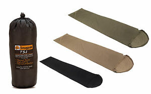 UK Made Snugpak  TS1 Insulating Liner Available in Black, Green and Tan Camping