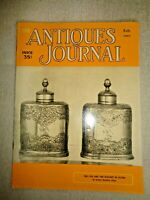 Antiques Journal 1957 Silver Seals Samplers Corning Museum of Glass NYU Clocks