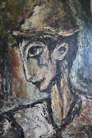 George Hann Original Oil Painting on Board Venice Carnival Portrait Signed
