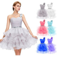 Short Tulle Formal Cocktail Dress Evening Party Ball Gown Puffy Bridesmaid Prom