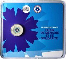 Frankreich 2 Euro Kornblume 2018 Stempelglanz Gedenkmünze im Blister in Farbe
