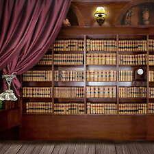 5x7ft Vinyl Bookshelf Bookcase School Study Library Photo Backdrop Background