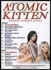 ATOMIC KITTEN -  LADIES NIGHT LIVE 2004 - TOUR FLYER - pop music