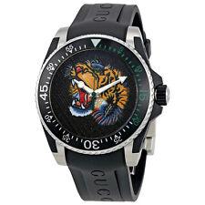 Gucci Dive Tiger Motif Dial Mens Watch YA136318