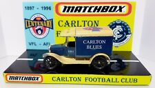Vintage MATCHBOX 1996 Carlton Blues MODEL T FORD Diecast Model & Custom Display