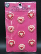Vintage 2003 Wilton Candy Icing Cake Decoration Hearts Valentines Love So Sweet