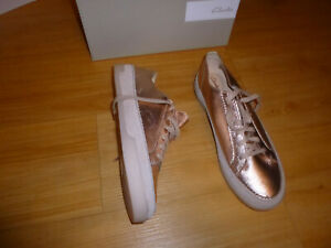 Clarks mwn leather shoes sneakers Sz-40Eur 9US