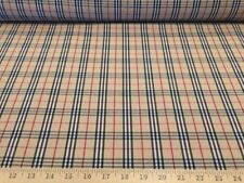 Beige/Black/Red/White School Tartan Plaid 100% polyester fabric 58