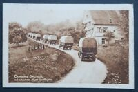 Carte postale CAMIONS SAURER en colonne dans les Vosges automobile automobilia