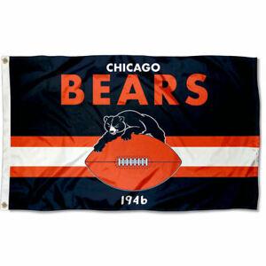 3x5 Foot Chicago Bears Throwback Retro Vintage Logo Flag
