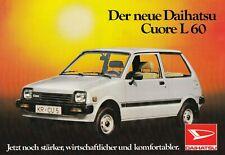 DAIHATSU CUORE L 60 Japan Kleinwagen Klassiker Prospekt Brochure Sheet 96