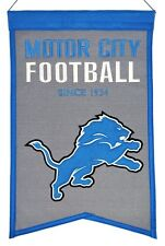 Detroit Lions Wool Franchise Banner (New) Nfl Man Cave Sign Wall Flag