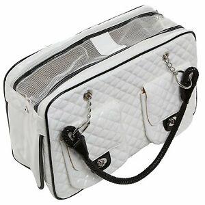 Leather Dog & Cat Soft Pet Carrier Tote Handbag Hiking Travel Shopping Pet Bag