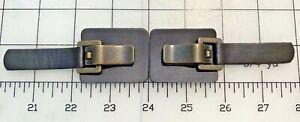 1 Set Designer Leather Snap Metal Bronze Brown Toggle Frog Closure Buckle Sewing