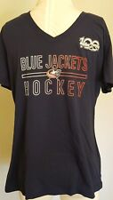 Adidas NHL Columbia Blue Jackets Women's Gradient Lines Ultimate Tee 2.0 NWT