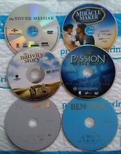 Dvd lot of 6 biblical movies - The Passion of the Christ, Miracle Maker, Noah.