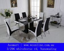 Glass Rectangular Dining Furniture Sets with 5 Pieces