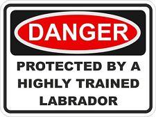 Dog LABRADOR Breed Danger Sticker Pet for Bumper Locker Car Door