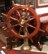 Real ANTIQUE STEERING with BASE - Brass -Heavy Weight -RARE