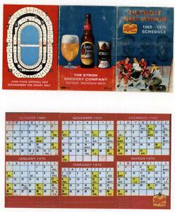 1 - 7 x 3 1/2  - 1969 -70 Detroit Red Wings Team Schedule  Full Sked