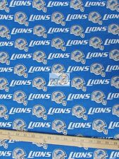 "NFL PRINT COTTON FABRIC - Detroit Lions - 58"" WIDTH SOLD BY THE YARD - C439"