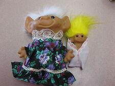 "GRANDMA/GRANNY WITH BABY  - 8"" Uneeda Troll Dolls -  RARE"