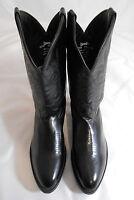 Laredo 4240 Black Leather Western Cowboy Boots Mens Size 10.5 EW (Wide)