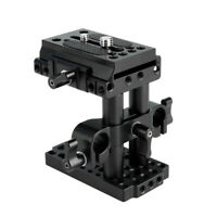 NICEYRIG Tripod Mount Base Plate QR Rod Clamp for DSLR Camera Manfrotto Standard