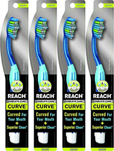 Reach Complete Care Curve Soft Toothbrush, 1 Count Pack of 4 Colors May Vary