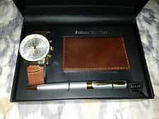 L & Co Watch Set Men with pen and business card holder new