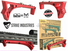 Strike Industries RED LINK Curved Angled Fore Grip Fits BOTH  KeyMod & M-LOK