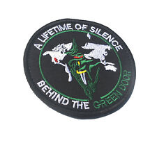 A LIFETIME OF SILENCE BEHIND THE GREEN DOOR ARMY TACTICAL EMBROIDERED PATCH /01