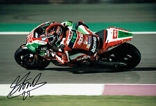 Sam LOWES 2017 SIGNED Autograph 12x8 Photo E AFTAL COA MOTOGP Aprilia Rider