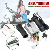 48V Electric Bike Scooter Motor Brushed Controller Speed + Throttle Twist Grips
