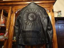 HARLEY DAVIDSON WILLIE G CLASSIC WHEEL LEATHER JACKET MEN'S MEDIUM 98105-06VM