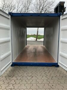 20 ft Seecontainer RAL 5010, Doubledoor, Lagercontainer, Reifencontainer,
