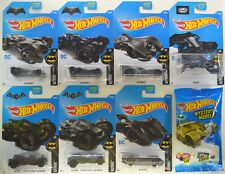 2017 Hot Wheels: BATMAN BATMOBILE Complete Set of 8 Cars w/ Gold Mystery Tumbler