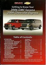 Getting To Know Your 2006 Chevrolet Express Owner's Manual Supplement Guide