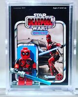 Deadpool Star Wars Custom Mini Action Figure w Display Case Mini-figure 75