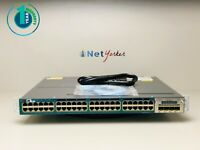Cisco WS-C3560X-48P-S • 48 Port PoE+ Gigabit Switch ■ SAME DAY SHIPPING  ■