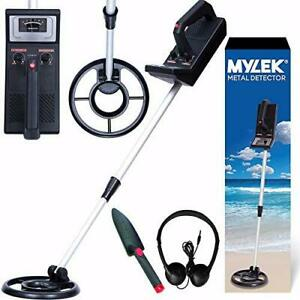 Metal Detector Kit Height Adjustable With Waterproof Search Coil - Detects